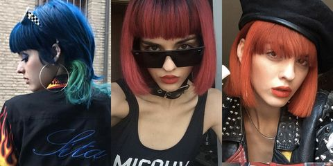"<p>""I have been coloring my hair since three years ago. I've been blonde, pink, purple, blue, orange, red, then back to blue.&nbsp;I dye [my hair] &nbsp;every month.&nbsp;<strong data-redactor-tag=""strong"" data-verified=""redactor"">I wash it like every two days</strong>, at least, but I try to go to salons to get those Keratin treatments and <strong data-redactor-tag=""strong"" data-verified=""redactor"">I also cut [my hair] every month so its always healthy</strong>.&nbsp;It looks really healthy because I have quite a bit of hair. People always ask me if I have a wig!</p><p><span class=""redactor-invisible-space"" data-verified=""redactor"" data-redactor-tag=""span"" data-redactor-class=""redactor-invisible-space""></span></p><p><strong data-redactor-tag=""strong"" data-verified=""redactor"">I use Shu Uemura products. </strong>I use the&nbsp;red [<a href=""http://www.shuuemuraartofhair-usa.com/search?q=color%20lustre"" target=""_blank"" data-tracking-id=""recirc-text-link"">Color Lustre</a>]&nbsp;line they have: <a href=""http://www.shuuemuraartofhair-usa.com/color-lustre-sulfate-free-brilliant-glaze-shampoo/E1056800.html?cgid=root&amp;dwvar_E1056800_size=10FLOZ%2F300ML"" target=""_blank"" data-tracking-id=""recirc-text-link"">the shampoo</a>, <a href=""http://www.shuuemuraartofhair-usa.com/color-lustre-brilliant-glaze-treatment-masque/E1037100.html?dwvar_E1037100_size=6FLOZ%2F200ML"" target=""_blank"" data-tracking-id=""recirc-text-link"">the mask</a>, and the <a href=""http://www.shuuemuraartofhair-usa.com/color-lustre-brilliant-glaze-thermo-milk/E1024600.html?cgid=root&amp;dwvar_E1024600_size=5FLOZ%2F150ML"" target=""_blank"" data-tracking-id=""recirc-text-link"">heat protector</a>. It's really nice because it's for [dyed] hair and it maintains the color and doesn't make your hair dirty. Now that I have short hair, it gets dirtier faster with this products its fine I love that.</p><p><span data-redactor-tag=""span"" data-verified=""redactor""></span>I wash it like normal–I just divide it into parts because I have green [under the blue].&nbsp;I hold it with a clip and I wash the blue because the blue of course is darker than the green if I wash together the part of the green gets to the blue.<span class=""redactor-invisible-space"" data-verified=""redactor"" data-redactor-tag=""span"" data-redactor-class=""redactor-invisible-space"">&nbsp;</span>I try not to put oils or products with alcohol because they take the color away faster and I like the color to be very intense, electric. I&nbsp;especially&nbsp;like a midnight blue.&nbsp;<strong data-redactor-tag=""strong"" data-verified=""redactor"">I hate dry shampoo because it feels dirty.</strong>&nbsp;If [my hair]&nbsp;feel[s] heavy I don't like it. I try to not put a lot of spray and stuff that makes your hair thicker. I like the hair when it has movement.""–<a href=""https://www.instagram.com/sitabellan/?hl=en"" target=""_blank"" data-tracking-id=""recirc-text-link"">@sitabellan</a></p><p><span data-redactor-tag=""span"" data-verified=""redactor""></span></p>"