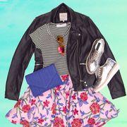 Blue, Sleeve, Collar, Textile, Pattern, Jacket, Fashion, Bag, Visual arts, Fashion design,