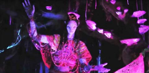 Pink, Magenta, Purple, Jaw, Artist, Guitar, Performance art, Dance, Dancer, Plucked string instruments,
