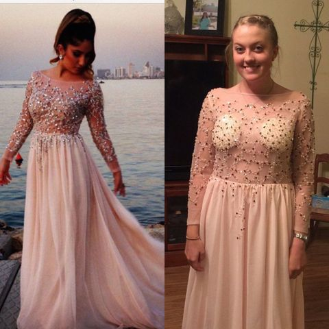 Dress, Clothing, Gown, Shoulder, Pink, A-line, Sleeve, Fashion, Formal wear, Neck,
