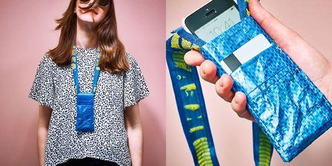 Clothing, Blue, Eyewear, Fashion, Outerwear, Street fashion, Gadget, Sleeve, Pattern, Electric blue,