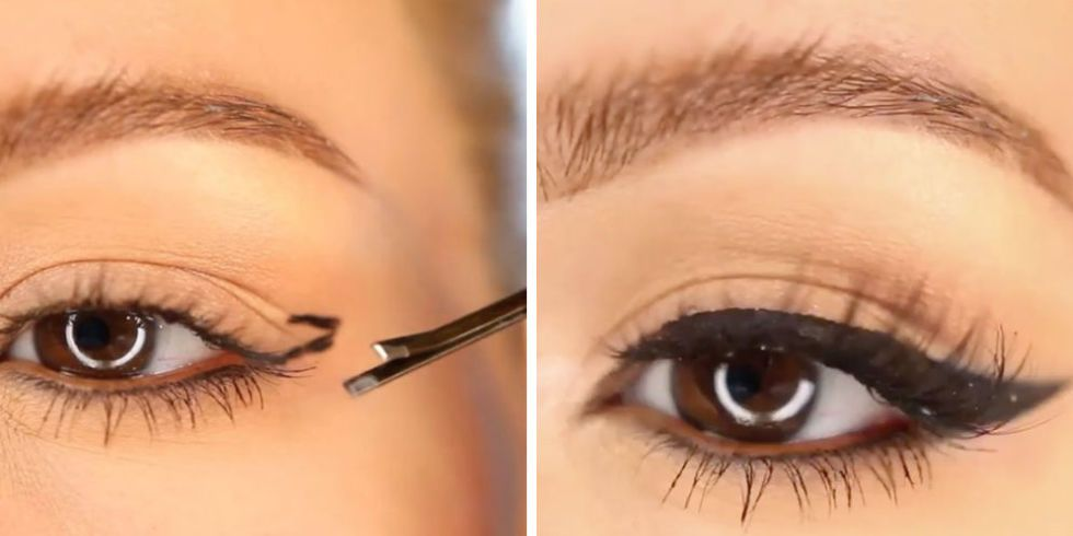 This genius bobby pin hack will give you flawless winged liner every time