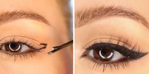 Eyebrow, Eyelash, Eye, Face, Skin, Eye shadow, Organ, Beauty, Cosmetics, Eye liner,