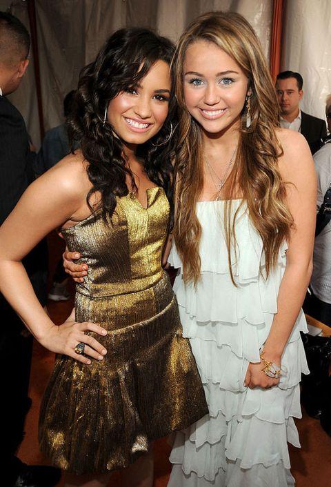 Demi Lovato and Miley Cyrus