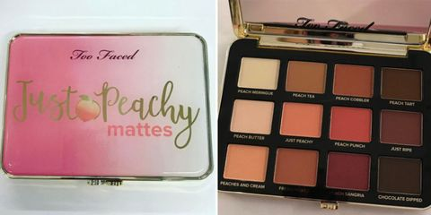 Brown, Eye shadow, Pink, Cosmetics, Tints and shades, Peach, Magenta, Fruit, Rectangle, Box,