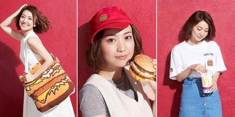 Lip, Cap, Headgear, Cuisine, Baked goods, Baseball cap, Dish, Sandwich, Finger food, Bag,