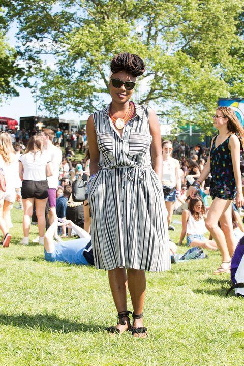 Fashion, Summer, Dress, Event, Grass, Street fashion, Crowd, Recreation, Picnic, Style,