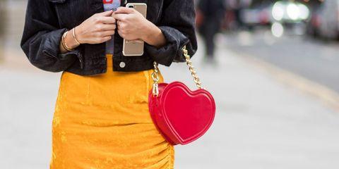 Bag, Red, Style, Fashion accessory, Street fashion, Carmine, Fashion, Jacket, Shoulder bag, Magenta,