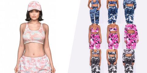 Clothing, Waist, Trousers, Crop top, sweatpant, Active pants, Fashion accessory, Pattern, Leggings, Sportswear,