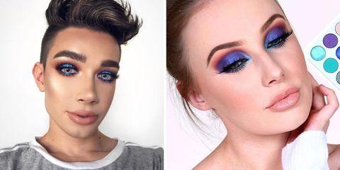 Face, Eyebrow, Hair, Eyelash, Skin, Eye shadow, Eye, Purple, Nose, Cheek,