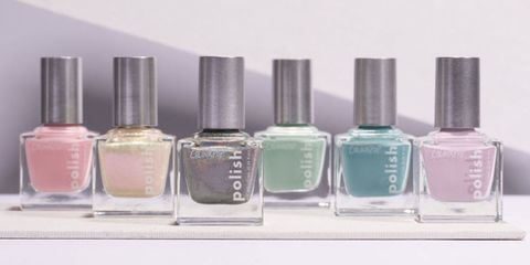 Nail polish, Nail care, Glass bottle, Product, Cosmetics, Bottle, Liquid, Solution, Nail, Material property,