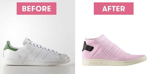 Footwear, Shoe, White, Product, Pink, Sneakers, Font, Plimsoll shoe, Walking shoe, Skate shoe,