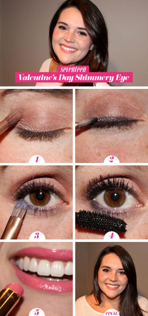 Valentine S Day Shimmery Eye How To Valentine S Day Eye Makeup