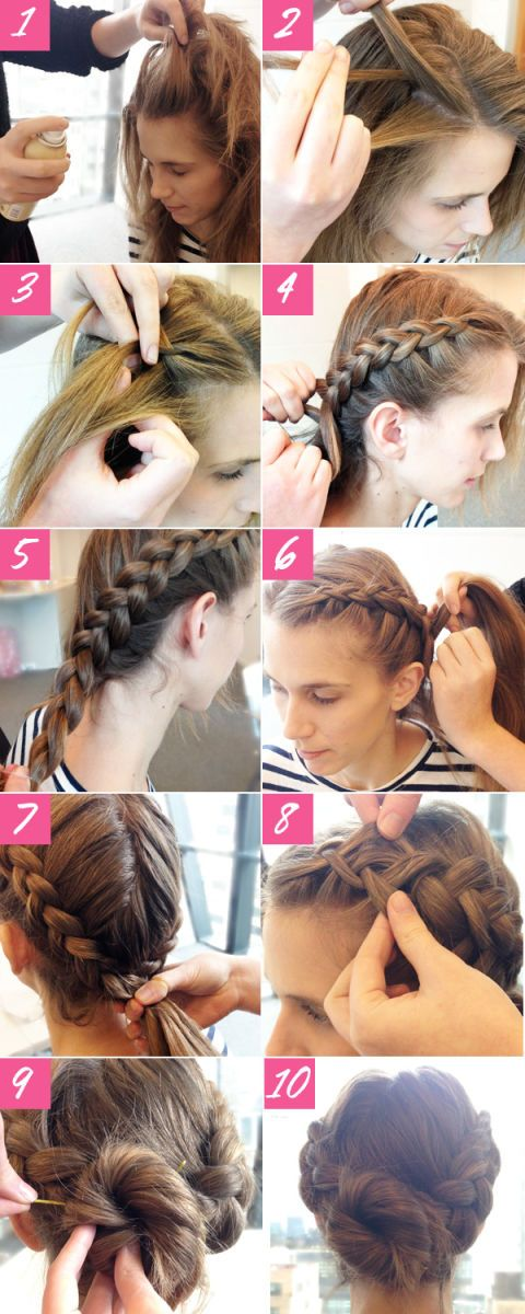 Easy Braided Updo Tutorial Double Braided Bun Hairstyle