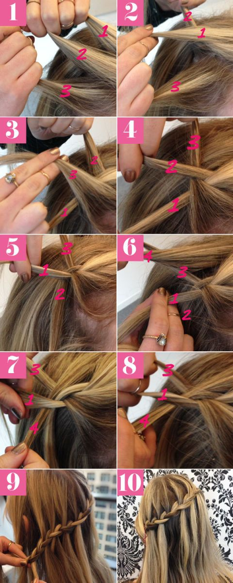Waterfall braid tutorial how to do a perfect waterfall braid hairstyle waterfall braid picture tutorial ccuart Image collections
