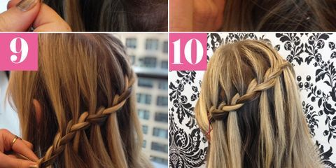 Waterfall braid tutorial waterfall braid picture how to ccuart Images