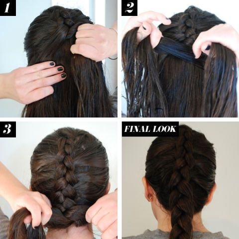 Reverse French Braid Hair How To Braid Tutorials