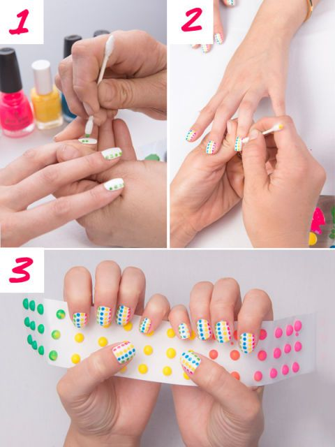 image - Candy Buttons Nail Art Tutorial - Candy Manicure How To