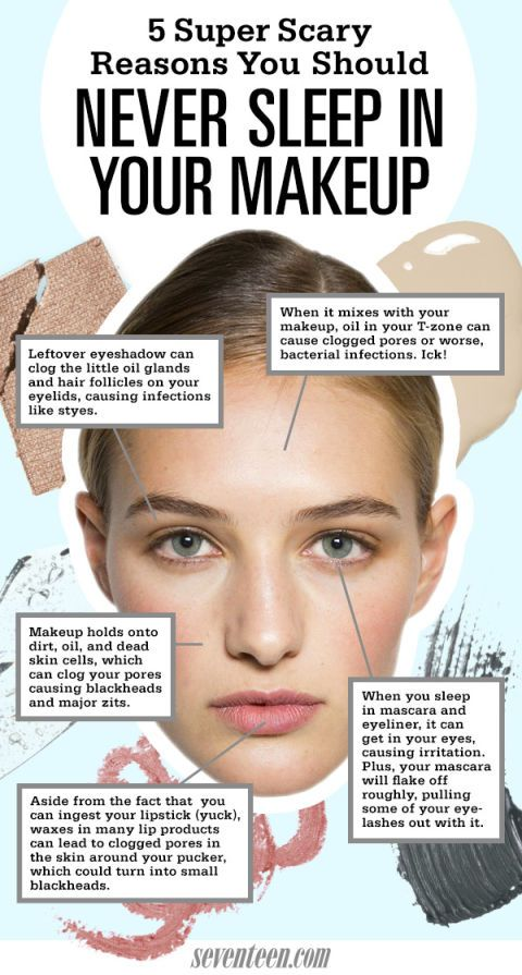 5 Super Gross Reasons You Should Never Sleep In Your Makeup
