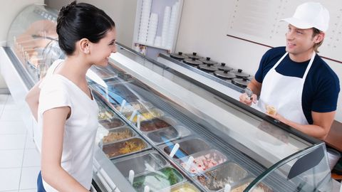 Flirting in Ice Cream Shop