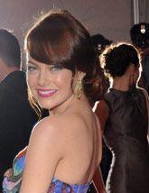 Get Emma Stone S Sleek Chignon Emma Stone Hair