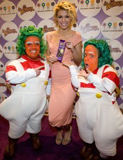 Celebs Celebrate Wonkas New Chocolate Bars