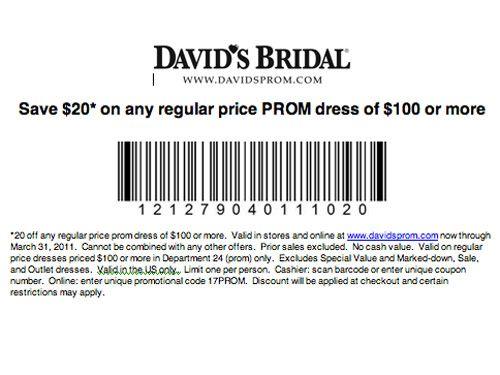 photograph about David's Bridal Printable Coupon identify Davids Bridal Coupon codes Model garments