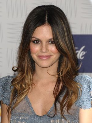 Ombre hair tips rachel bilson hair ombr is a huge hair trend right now as seen on celebs like rachel bilson lauren conrad and jessica biel instead of starting highlights at the top of urmus Gallery