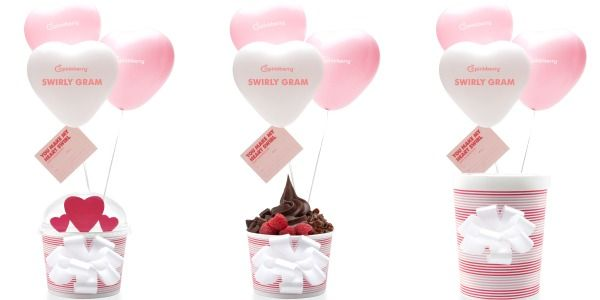 pinkberry swirly grams for valentines day, Ideas