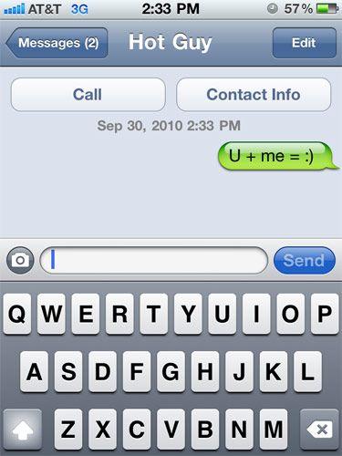 Cute flirty sms