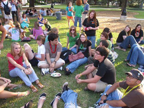 college students on quad