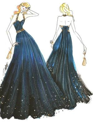 Prom Dresses Wedding Fashion Design Sketches