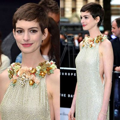 Anne Hathaway S Pixie Cut Style Short Red Carpet Hair Styles