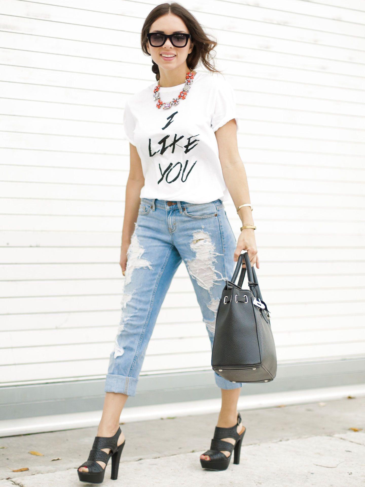 Dress up your boyfriend - How To Style Boyfriend Jeans Seventeen Style Council Daniela Outfit Ideas