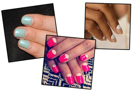 Half Moon Reverse French Nail Art Nail Trends From Fashion Week Ss2014
