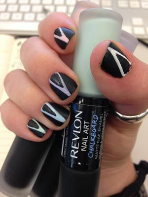 Revlon chalkboard nail art kit chalkboard manicure tutorial revlon chalkboard nail art prinsesfo Images