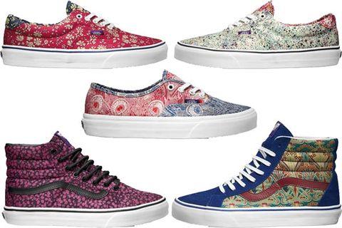 9904219293 Vans Liberty London Sneakers - Printed High and Low Top Sneakers