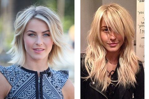 Julianne Hough New Long Hair Celebrities With Short Haircuts