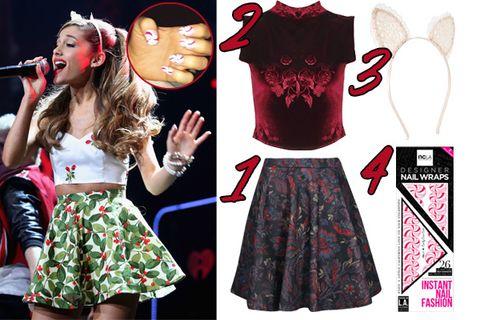 727c295adb Ariana Grande 2013 Jingle Ball Outfits - Holiday Party Style Ideas