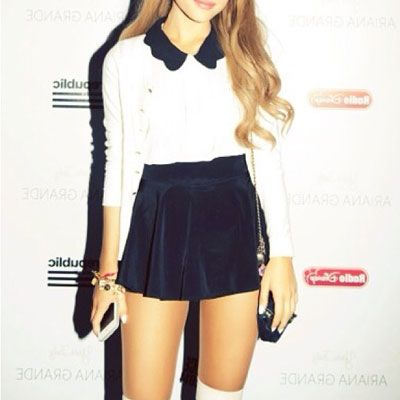 afccba3f2fc Ariana Grande knows a thing or two about rocking a signature look. The  singer recently posted a pic of one of her go-to outfits on Instagram with  the ...