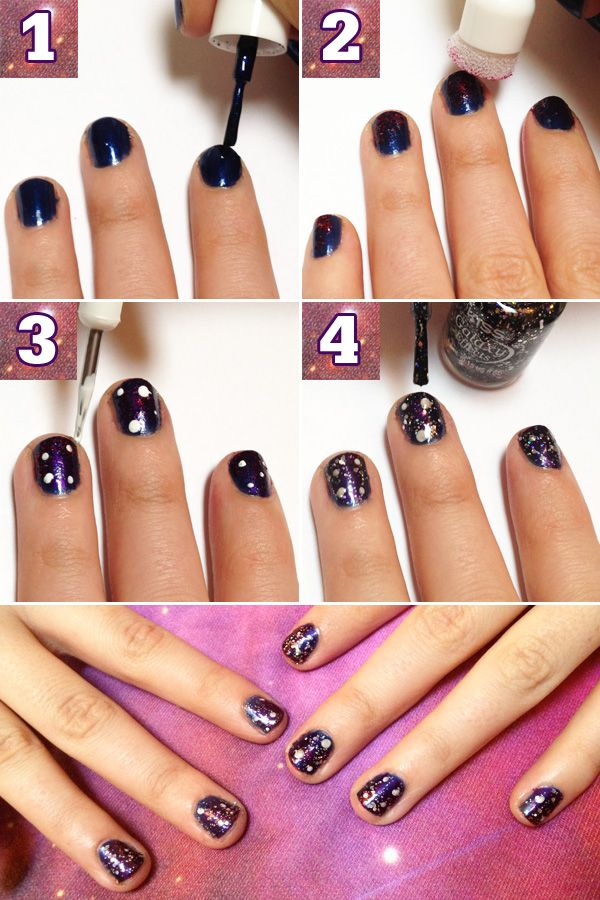 Galaxy Nails Tutorial - Space Manicure How To