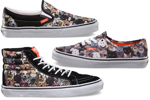 Vans x ASPCA Sneaker Collection - Cat And Dog Print Sneakers fa4fbff6c