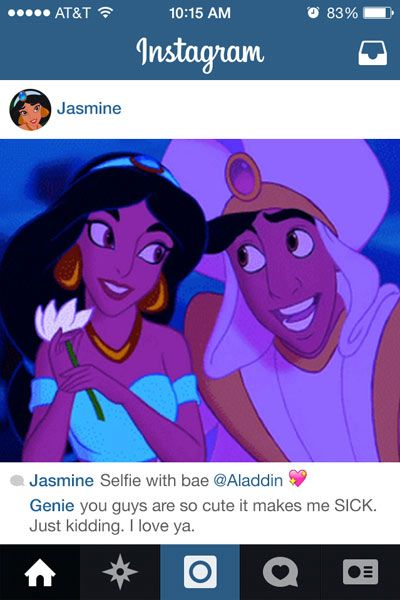 If Disney Princess Had Instagram Disney Princesses Reimagined