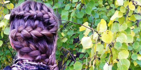 swirly girly french braid