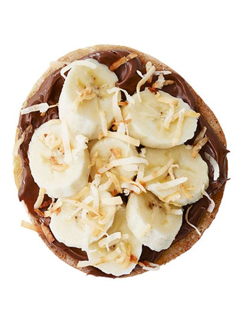 chocolate banana toppings for a bagel