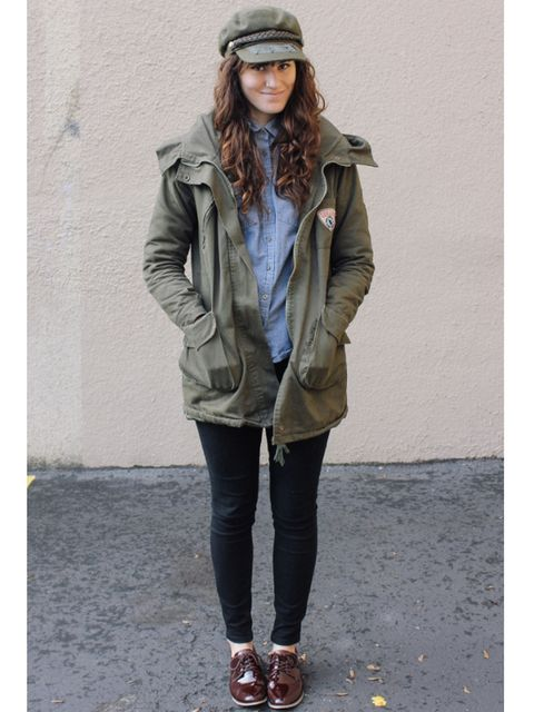 military hat and jacket