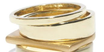Simple Gold Stacking Rings