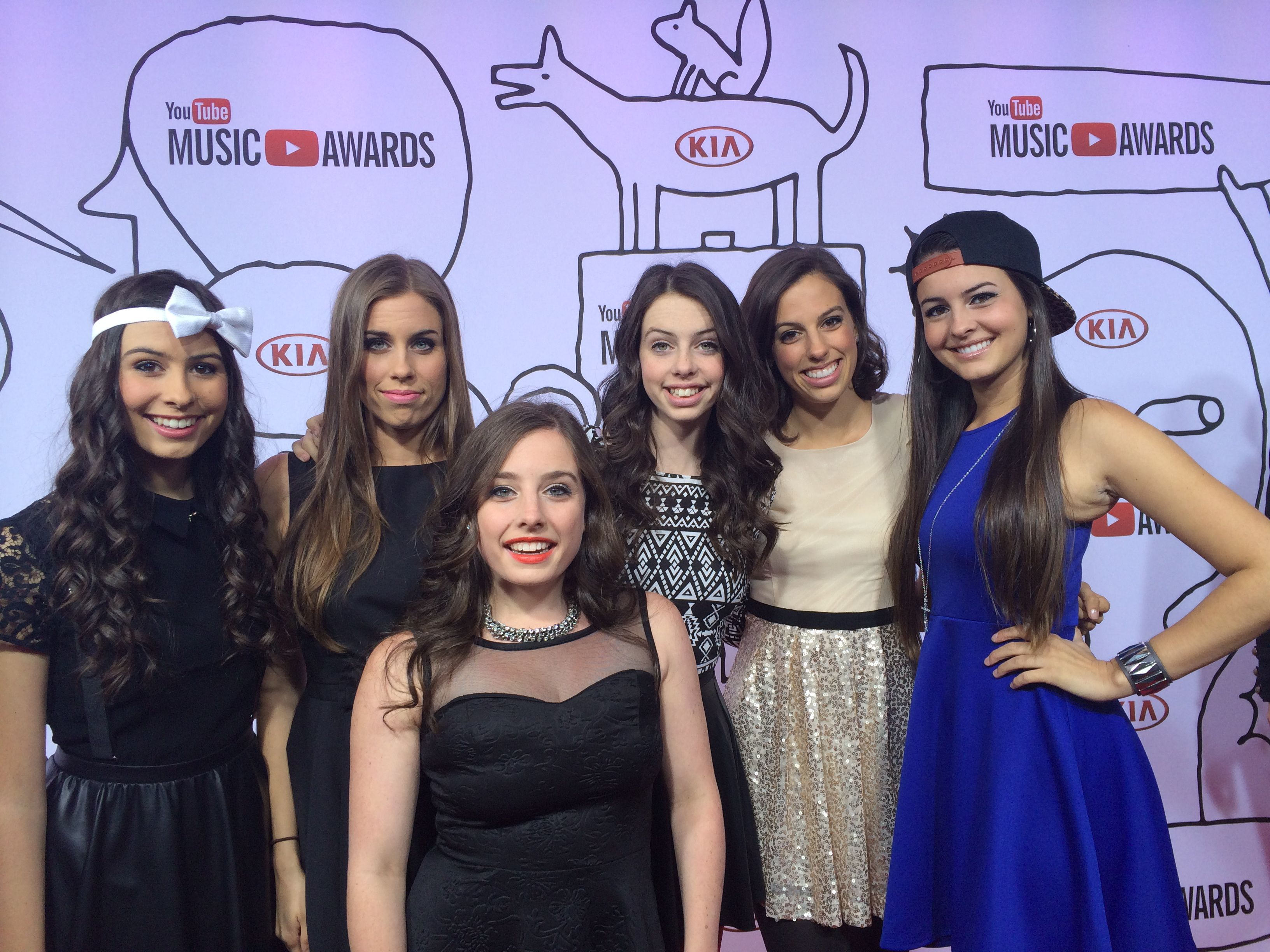the cimorelli sisters walked the red carpet at the youtube music awards