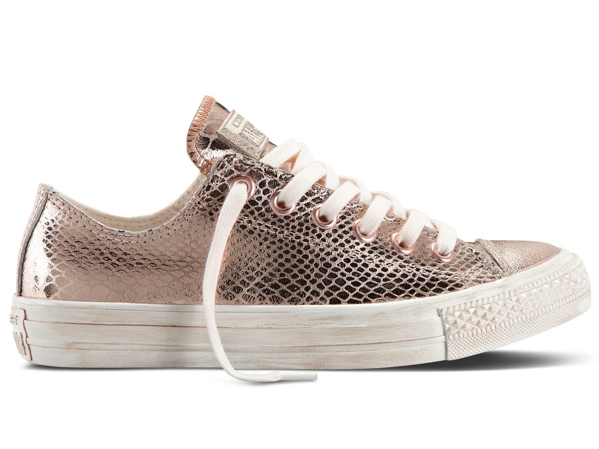 metallic chuck taylor converse sneakers