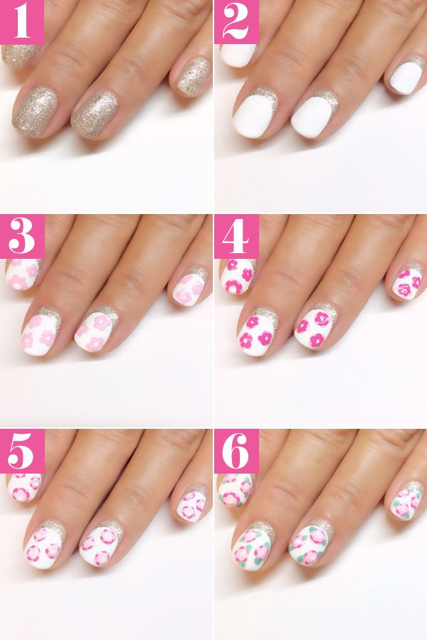 Easy floral nail art tutorial vintage rose manicure how to prinsesfo Gallery